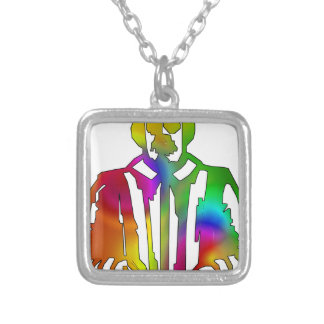 Psychedelic Shakespeare Silver Plated Necklace