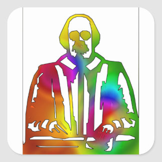 Psychedelic Shakespeare Square Sticker