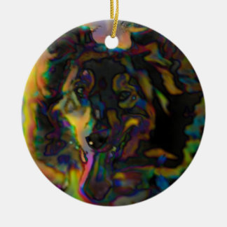Psychedelic Shepherd Ceramic Ornament