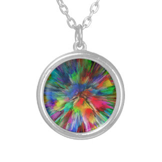 Psychedelic Silver Plated Necklace