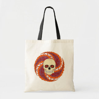 Psychedelic Skull Budget Tote Bag