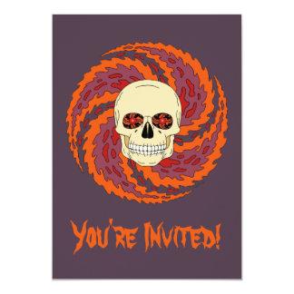 Psychedelic Skull Card