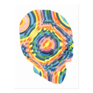 Psychedelic Skull II Postcard