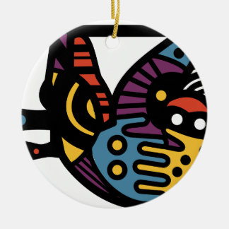 Psychedelic Sloth Ceramic Ornament