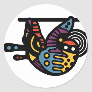 Psychedelic Sloth Classic Round Sticker