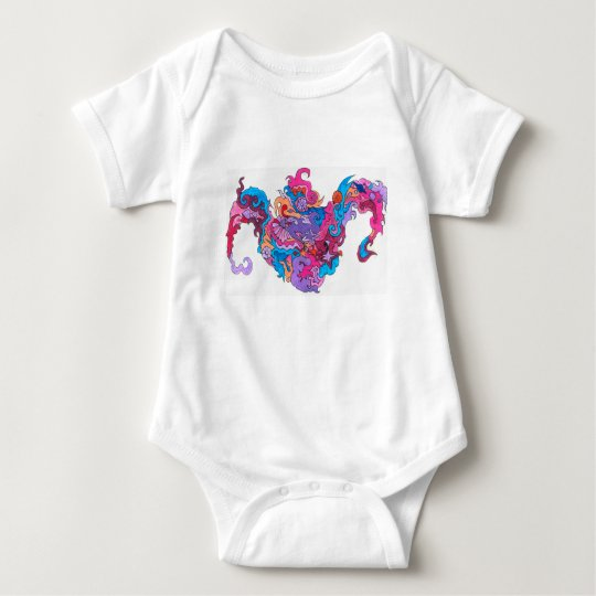 Psychedelic Smile Baby Bodysuit