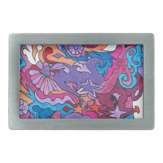 Psychedelic Smile Belt Buckle