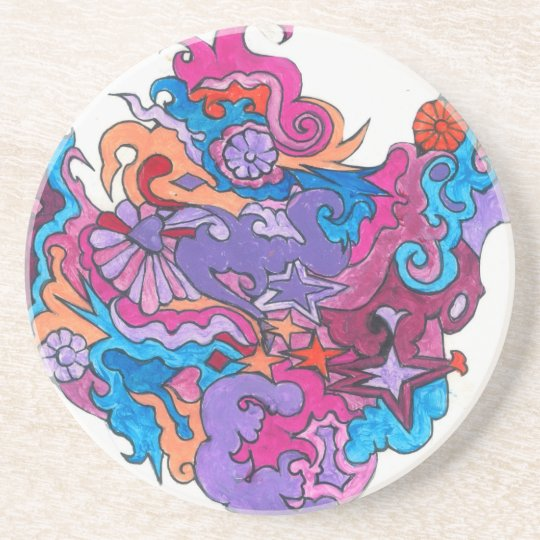 Psychedelic Smile Coaster