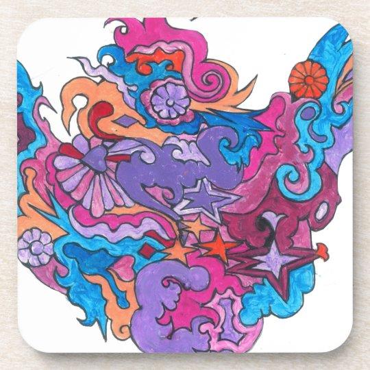 Psychedelic Smile Coaster