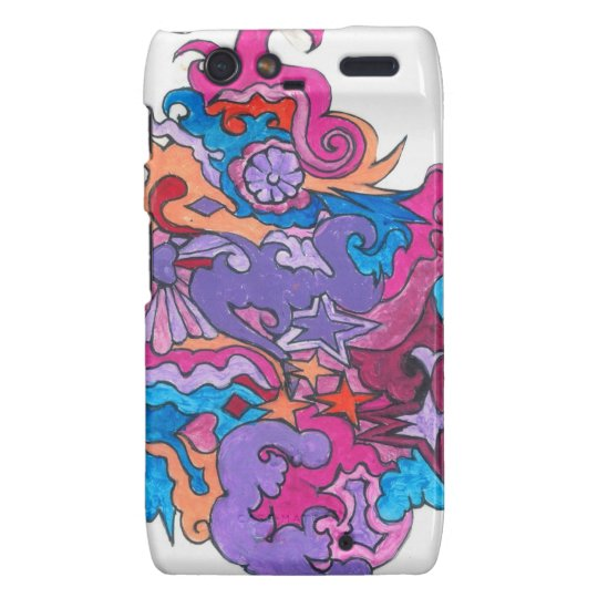 Psychedelic Smile Droid RAZR Cases