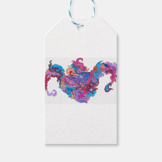 Psychedelic Smile Gift Tags