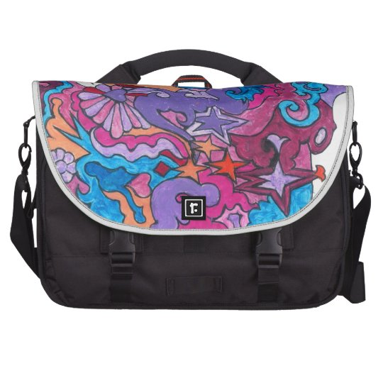 Psychedelic Smile Laptop Computer Bag