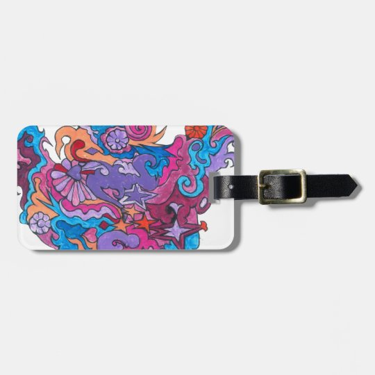 Psychedelic Smile Luggage Tag