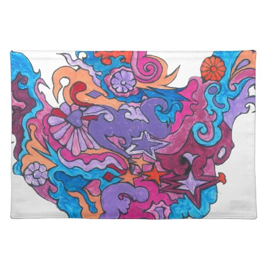 Psychedelic Smile Placemat