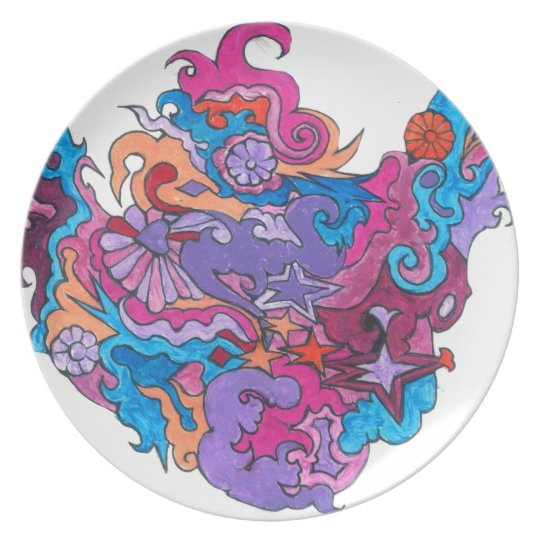 Psychedelic Smile Plate