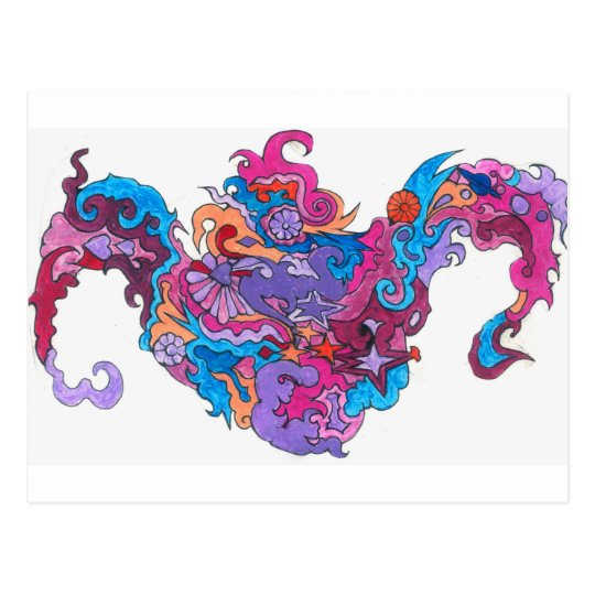 Psychedelic Smile Postcard