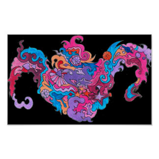 Psychedelic Smile Poster