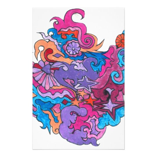 Psychedelic Smile Stationery