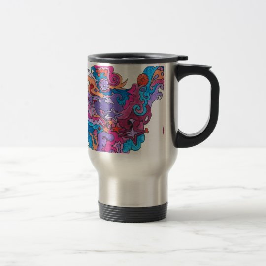 Psychedelic Smile Travel Mug