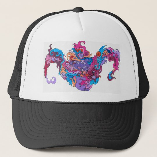 Psychedelic Smile Trucker Hat