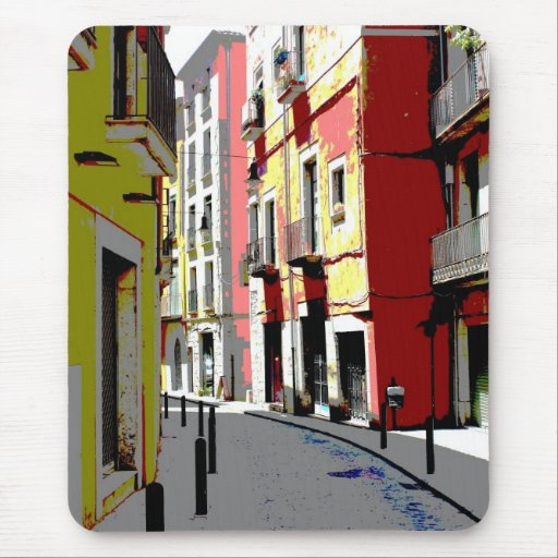 psychedelic Spain street photography Mouse Pad
