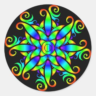 Psychedelic Sphere Spiral Sticker