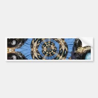 Psychedelic Spider Portal Bumper Sticker