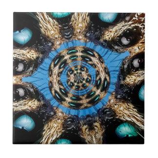 Psychedelic Spider Portal Ceramic Tile