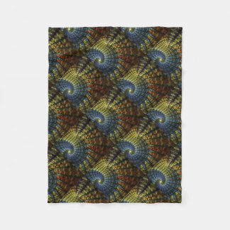 Psychedelic Spiral Fleece Blanket