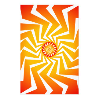 Psychedelic Spiral Pattern: Vector Art: Personalised Stationery