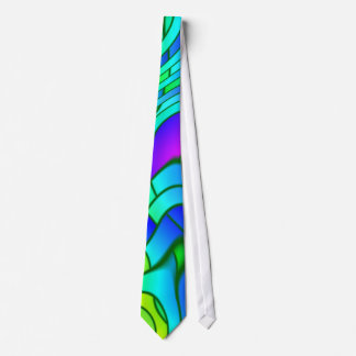 Psychedelic Stained Glass Pattern Tie