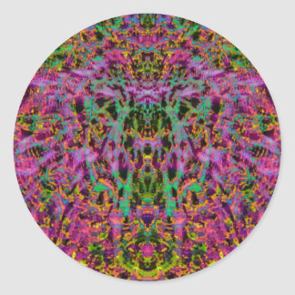 Psychedelic Starburst Sticker