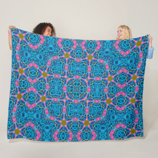 Psychedelic Starfish Techno Trance Quilt Fleece Blanket