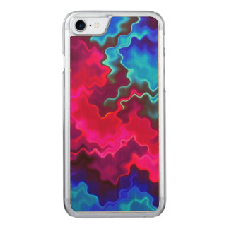 Psychedelic Storm Carved iPhone 7 Case