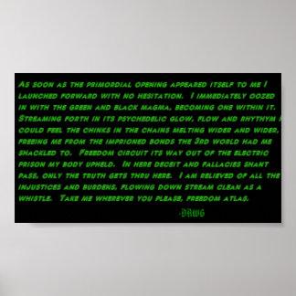 Psychedelic Stream poem print