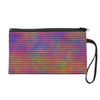 Psychedelic Stripes - Colorful Striped Abstract Wristlet Clutch