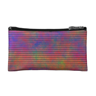 Psychedelic Stripes - Colorful Striped Abstract Cosmetic Bag