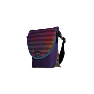 Psychedelic Stripes - Colorful Striped Abstract Messenger Bags