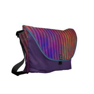 Psychedelic Stripes - Colorful Striped Abstract Courier Bag