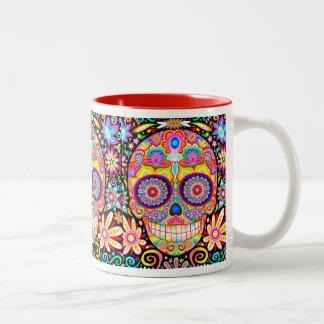 Psychedelic Sugar Skull Mug - Day of the Dead