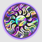 Psychedelic Sun and Moon Stickers