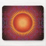 Psychedelic Sun: Spiral Fractal Design: Mousepad