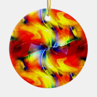 Psychedelic Sunrise Ceramic Ornament