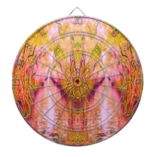 Psychedelic Swamp Dartboard With Darts