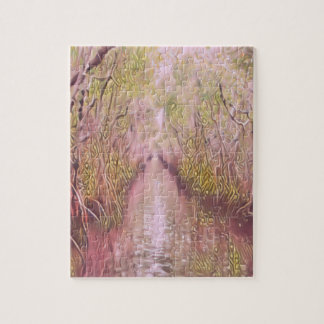 Psychedelic Swamp Jigsaw Puzzle