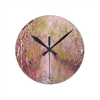 Psychedelic Swamp Round Clock