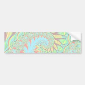 Psychedelic Swirl Art Fractal Car Bumper Sticker