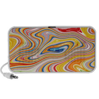 Psychedelic Swirl Doodle Travel Speaker