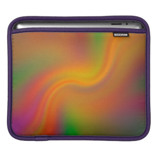 Psychedelic Swirling Color Design iPad Sleeve