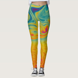 Psychedelic swirls leggings